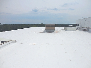 TPO roof atop 8000 Midlantic Dr.